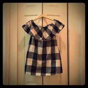 Dresses & Skirts - Buffalo Plaid Off Shoulder Dress